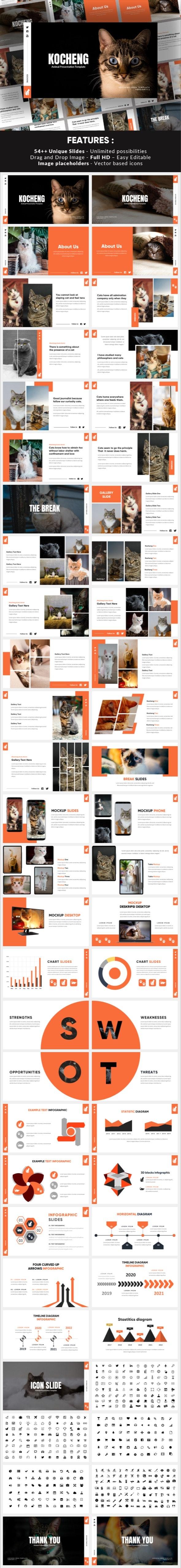Kocheng - Cat Animal Keynote Template - Miscellaneous Keynote Templates
