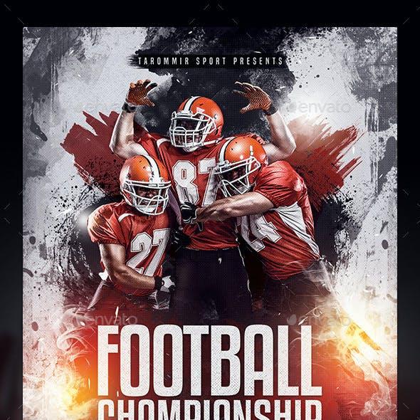 Football Championship Flyer