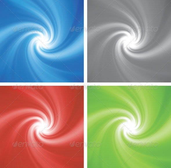 Blue rotating swirl - Backgrounds Decorative