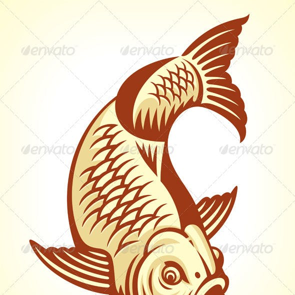 Carp Fish Cartoon
