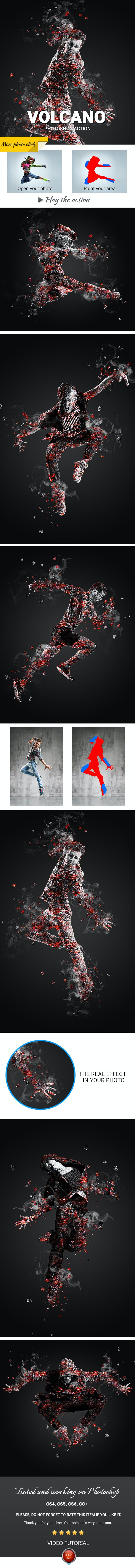 Volcano Photoshop Action - Photo Effects Actions