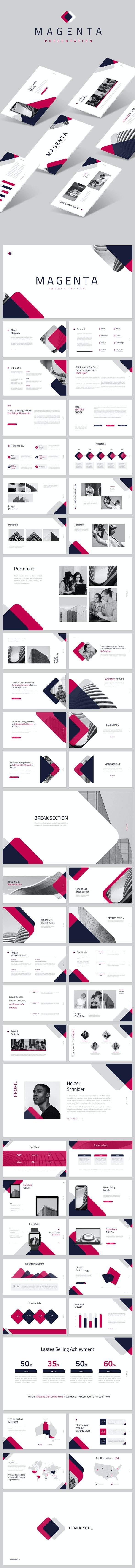 Magenta Google Slides - Google Slides Presentation Templates