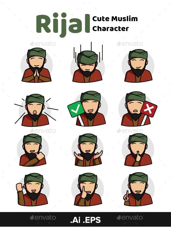 Rijal Muslim Character Pack - People Characters