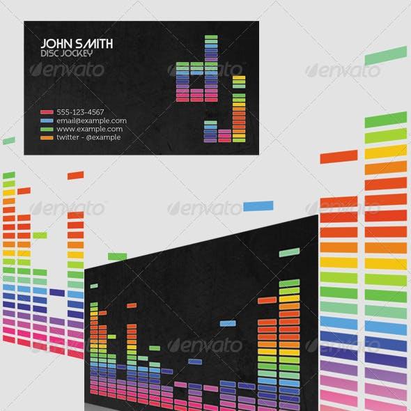 Equaliser Style DJ Business Card