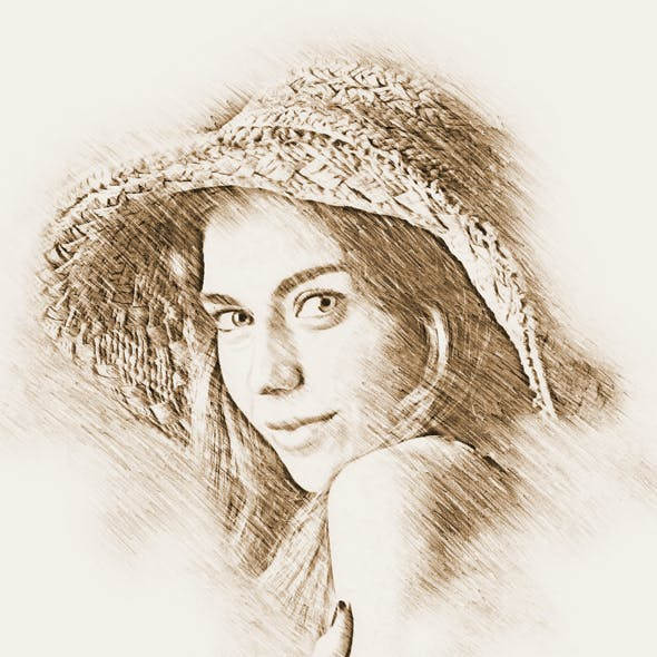Old Color Sketch Photoshop Action