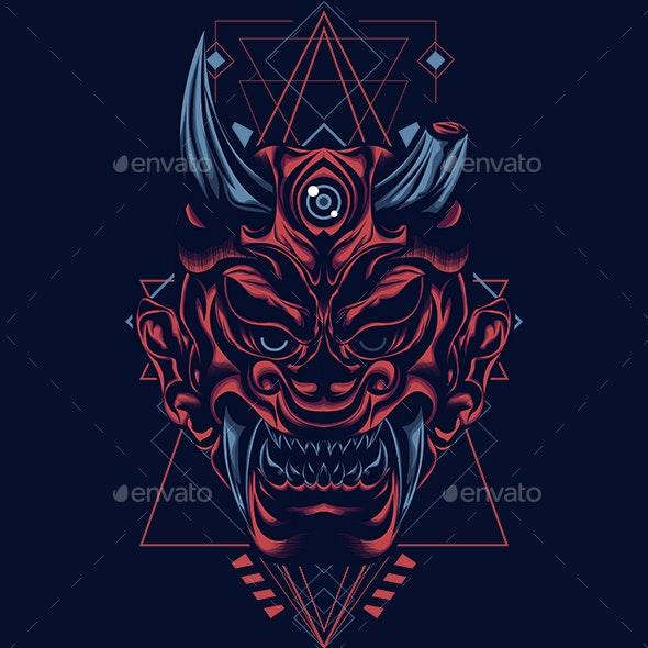 Satan Mask Sacred Geometry - Monsters Characters