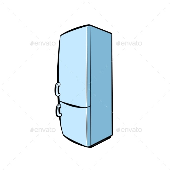 Home Refrigerator Household Appliances - Man-made Objects Objects
