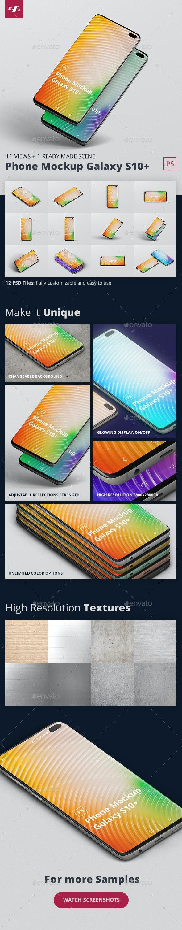 Phone Mockup Galaxy S10 Plus - Mobile Displays