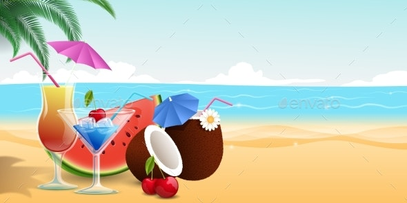 Summertime Food and Drinks - Food Objects