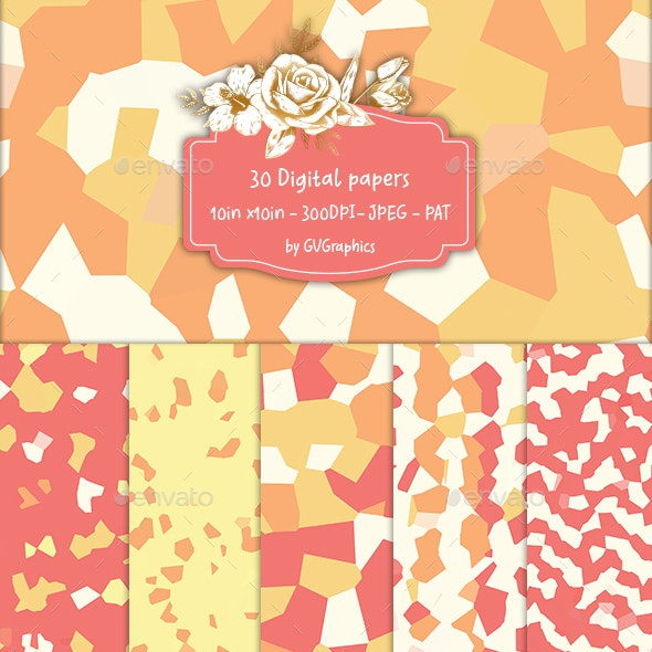 Colorful Abstract Digital Papers & Patterns - Abstract Backgrounds