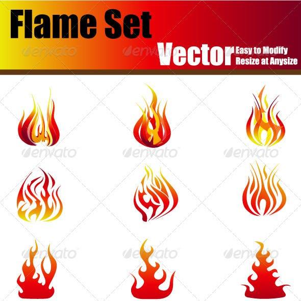 Vector Flame Set