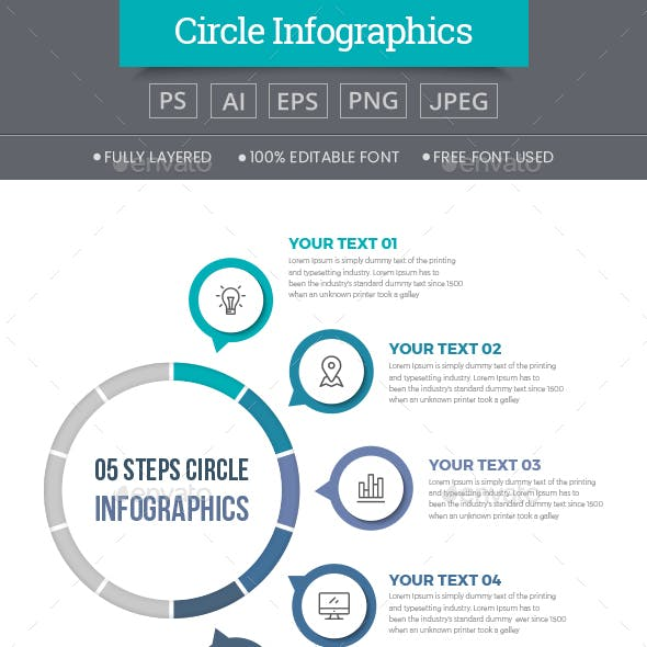Simple Circle Infographics