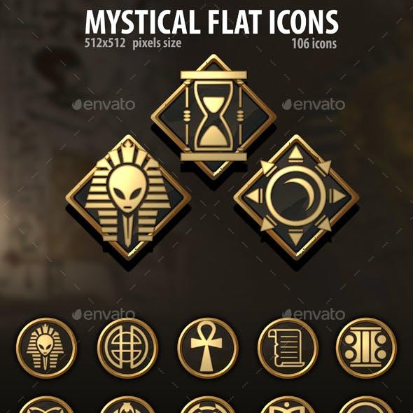 Mystical Flat Icons