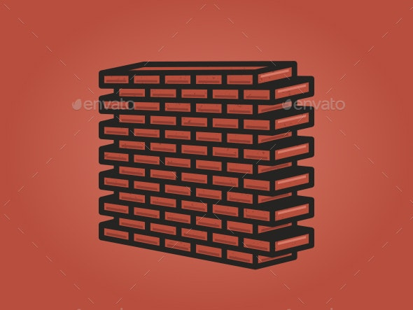 Brick Wall in Perspective - Buildings Objects