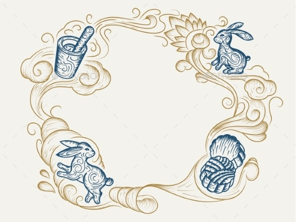 Sketch Background for Mid Autumn Festival Holiday - Religion Conceptual