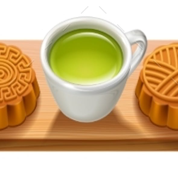 Sign with Mooncakes for Mid Autumn Festival