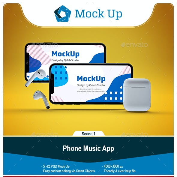 Phone Music App MockUp