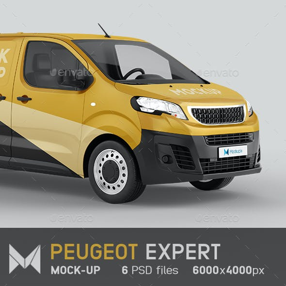 Peugeot Expert Van Mockup