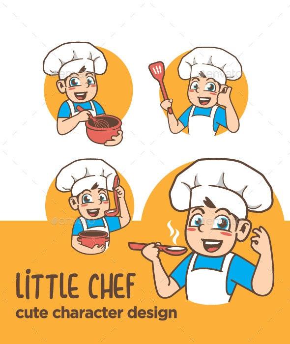 Chef Mascot Design - Food Objects