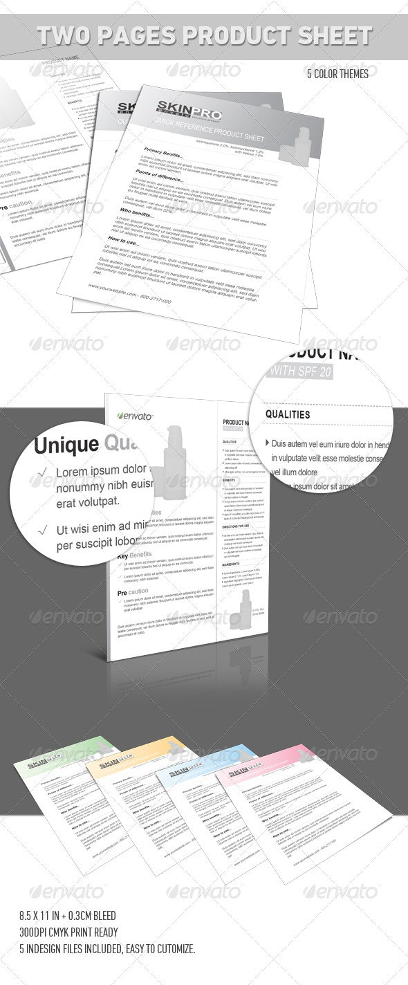 Double-Side Product Sheet Flyer Template - Corporate Flyers