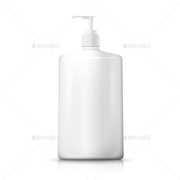 Vector Bottle with Pump