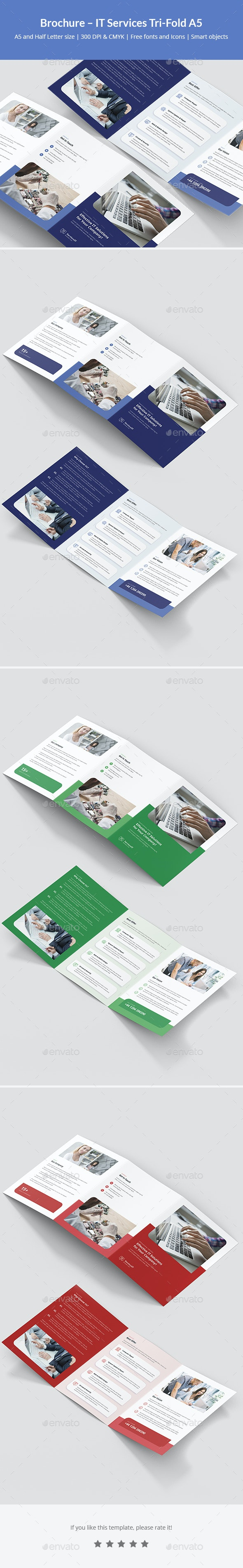 Brochure – IT Services Tri-Fold A5 - Corporate Brochures