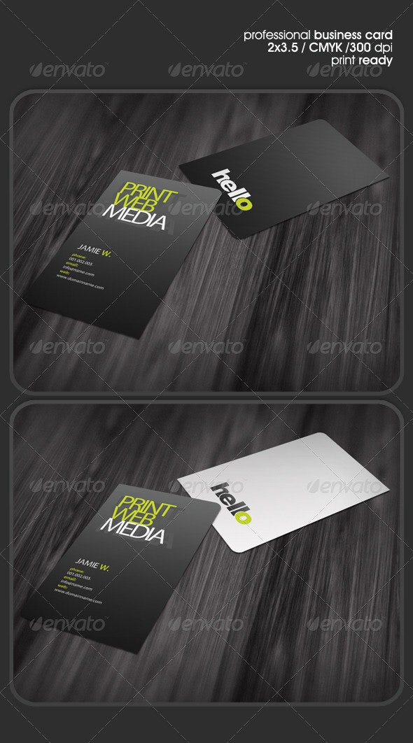 Hello Business Card - Corporate Business Cards