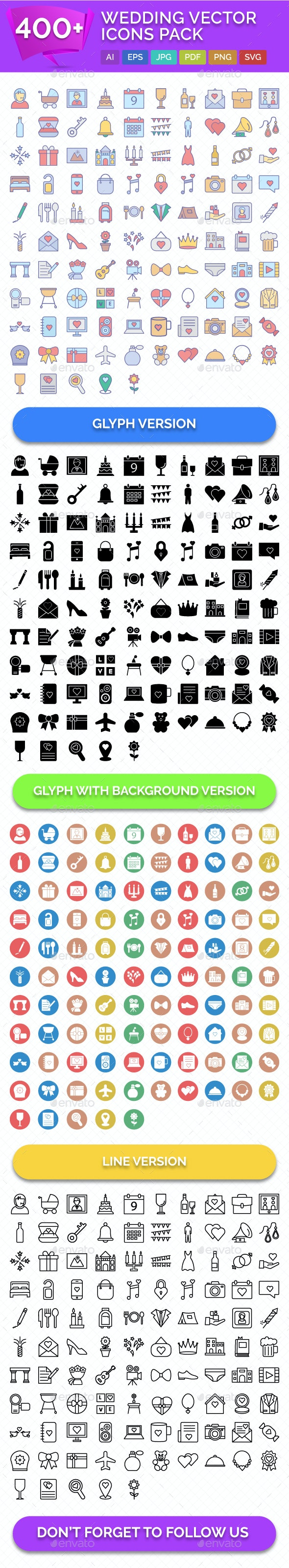 400+ Wedding Vector Icons Pack - Icons