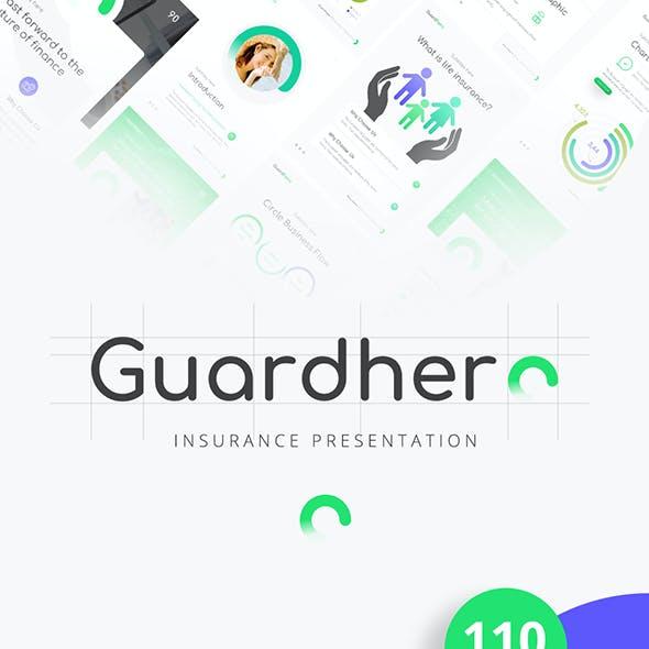 Guardhero Portrait Insurance Powerpoint Template