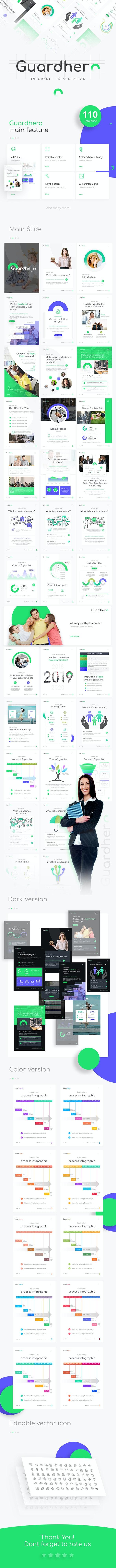 Guardhero Portrait Insurance Powerpoint Template - PowerPoint Templates Presentation Templates