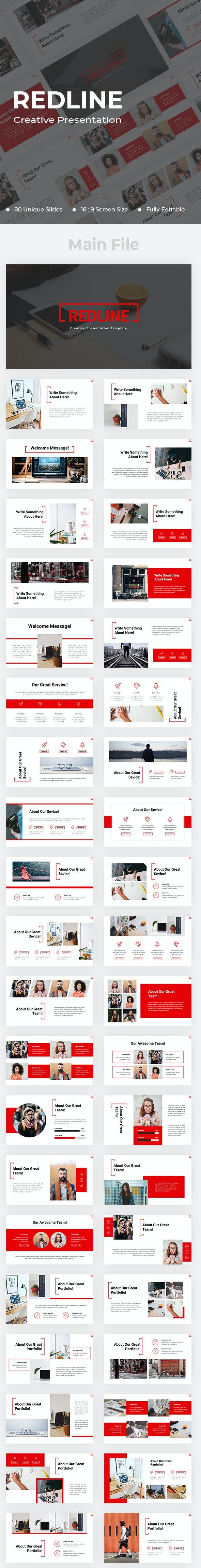 Redline Creative Google Slides - Google Slides Presentation Templates