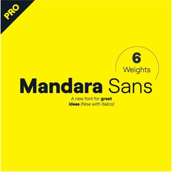 Mandara Sans Pro (6 weights with italics)