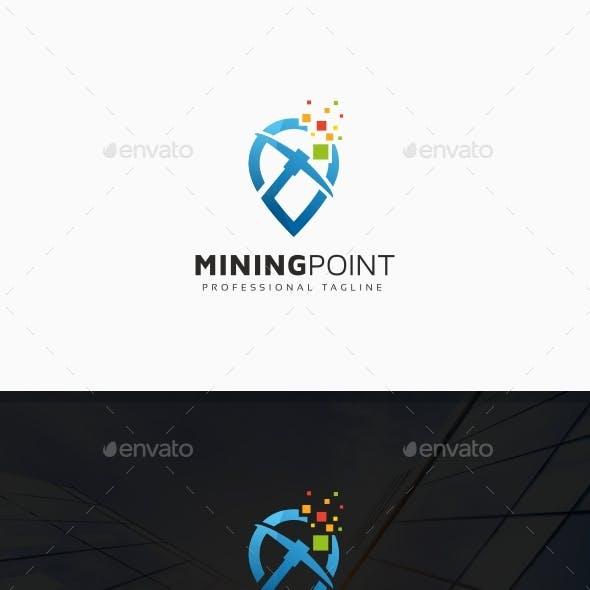 Bitcoin Crypto Mining Tech Logo