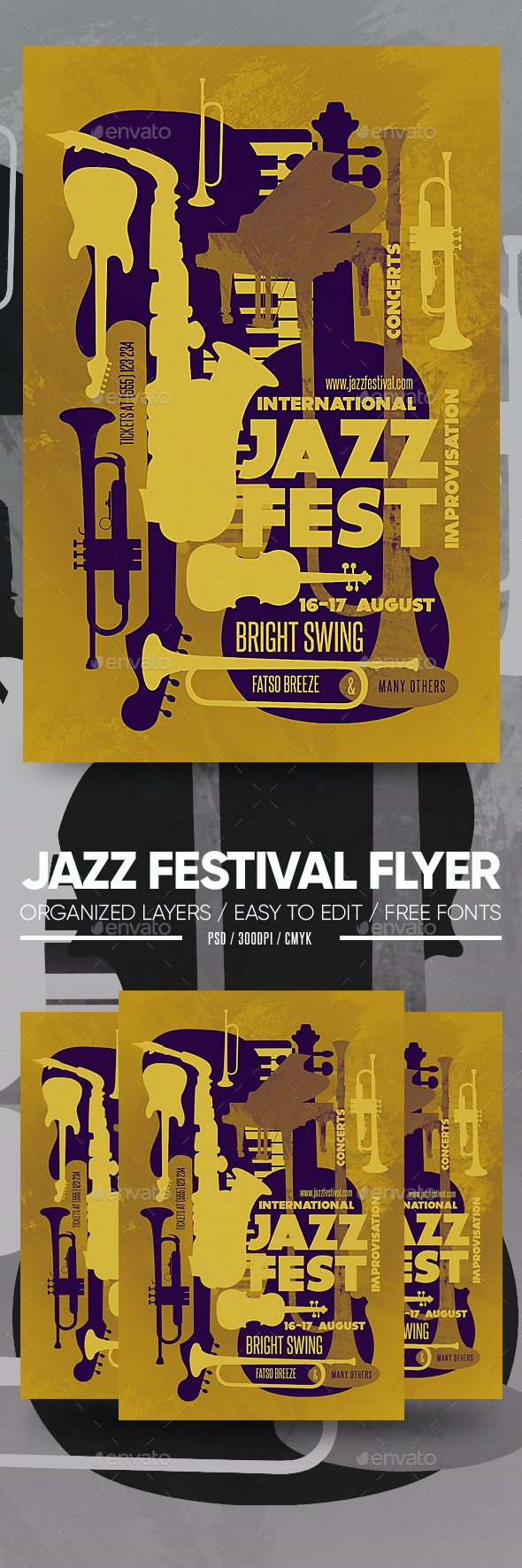 Jazz Festival Flyer - Clubs & Parties Events