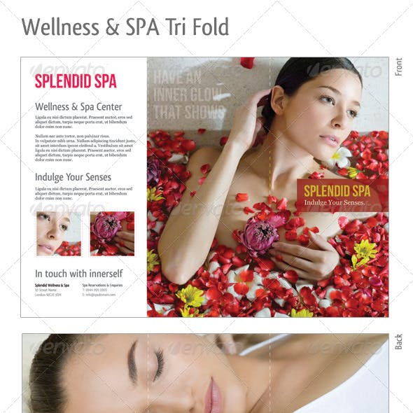 Tri-fold: Wellness & Spa