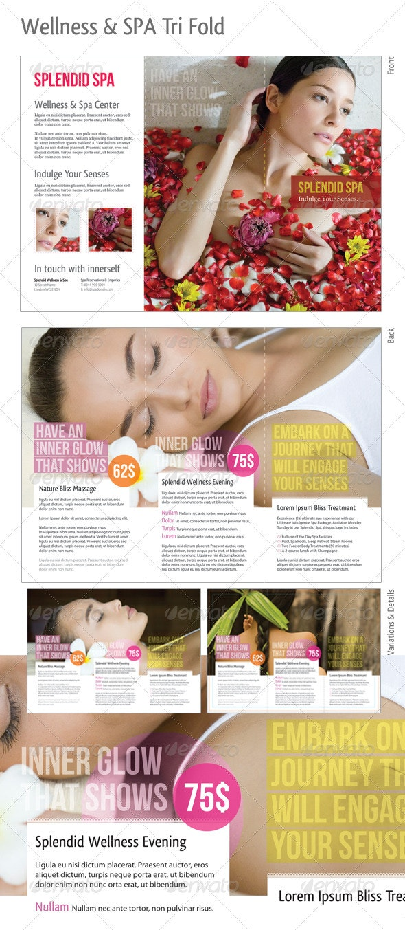Tri-fold: Wellness & Spa - Catalogs Brochures