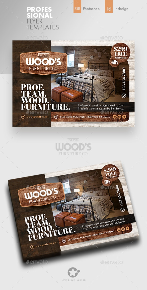 Wood Furniture Flyer Templates - Corporate Flyers