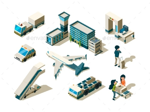 Airport Isometric - Travel Conceptual
