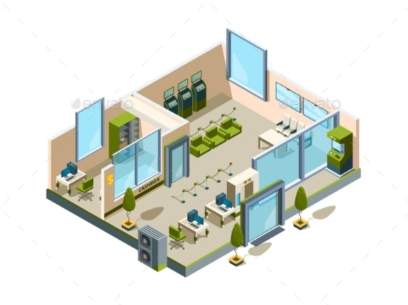 Bank Isometric - Buildings Objects