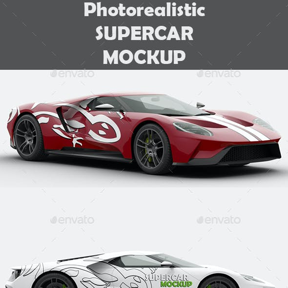 Supercar Ford GT Mock-Up