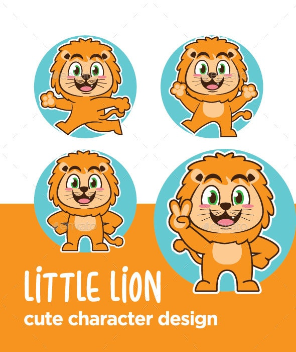 Lion Character Cartoon - Animals Characters