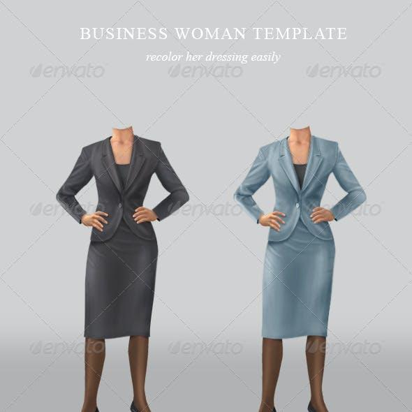 Confident businesswoman template