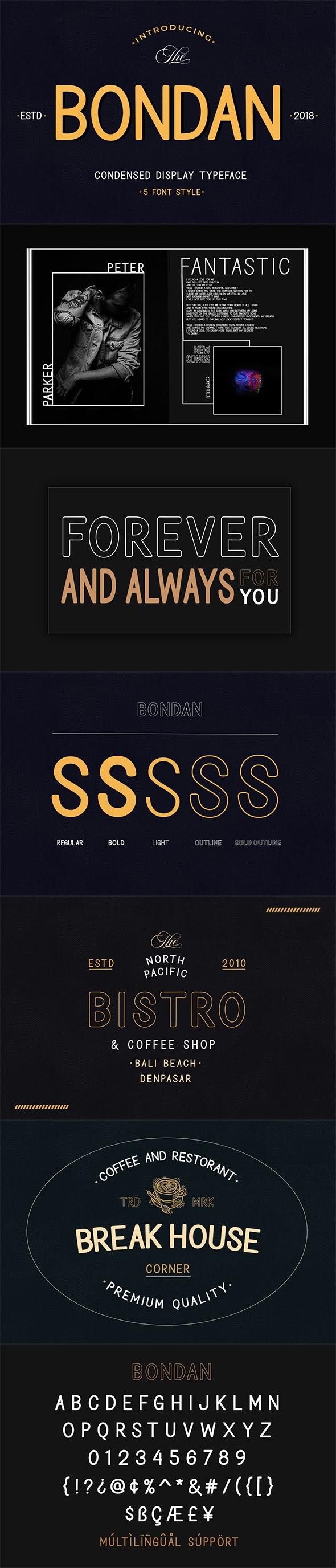 Bondan Typeface - Sans-Serif Fonts