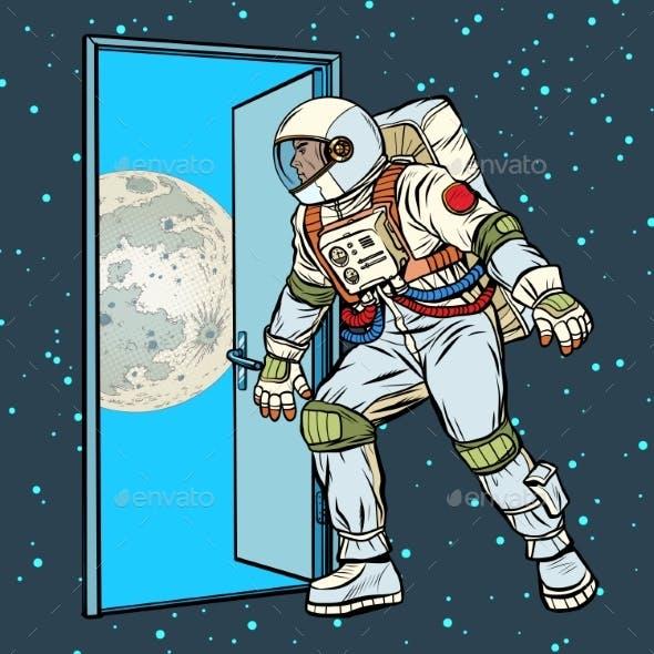 Astronaut Step on the Moon