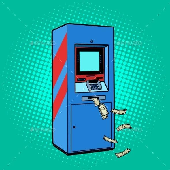 ATM Money Cash Theft Issuance Loss - Miscellaneous Vectors