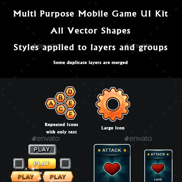 Game UI Designs Graphics, Designs & Template from GraphicRiver