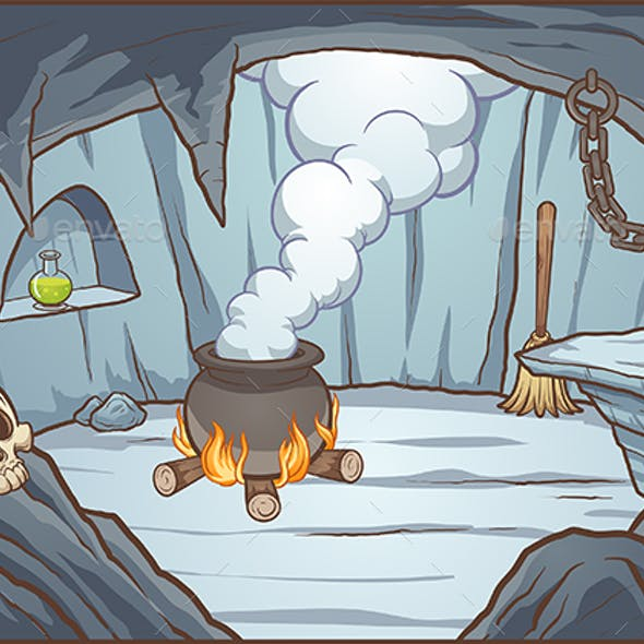 Witch Cave Background By Memoangeles Graphicriver