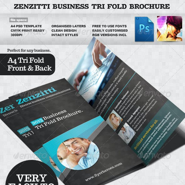 Zenzitti Business Tri-fold brochure