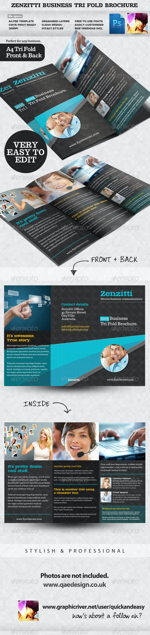 Zenzitti Business Tri-fold brochure - Corporate Brochures
