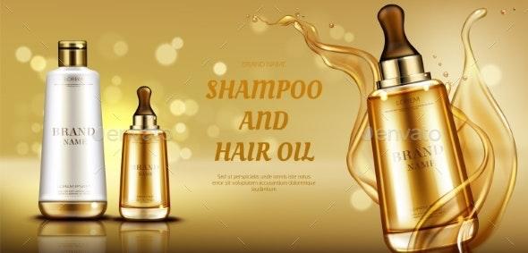 Cosmetics Beauty Bottles with Liquid Splash - Health/Medicine Conceptual